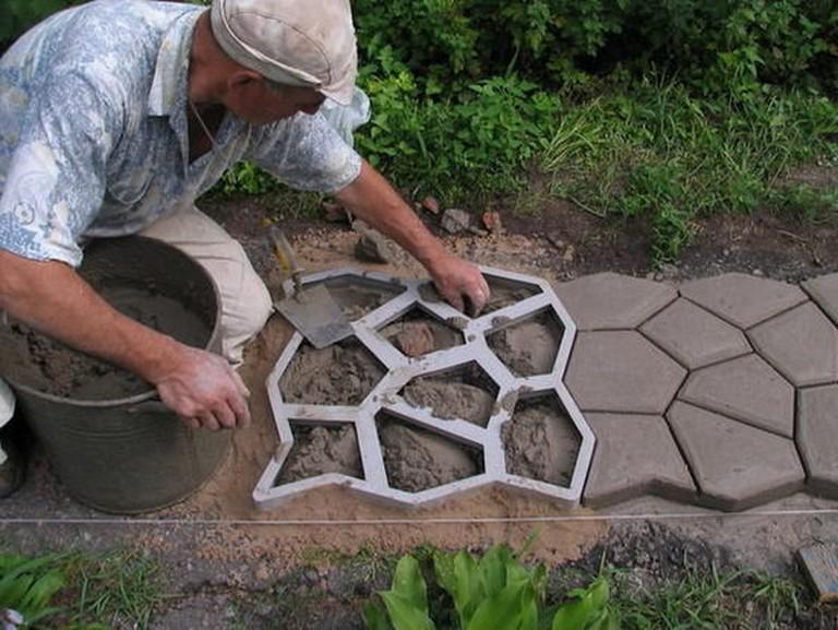 марка цемента для садовых дорожек