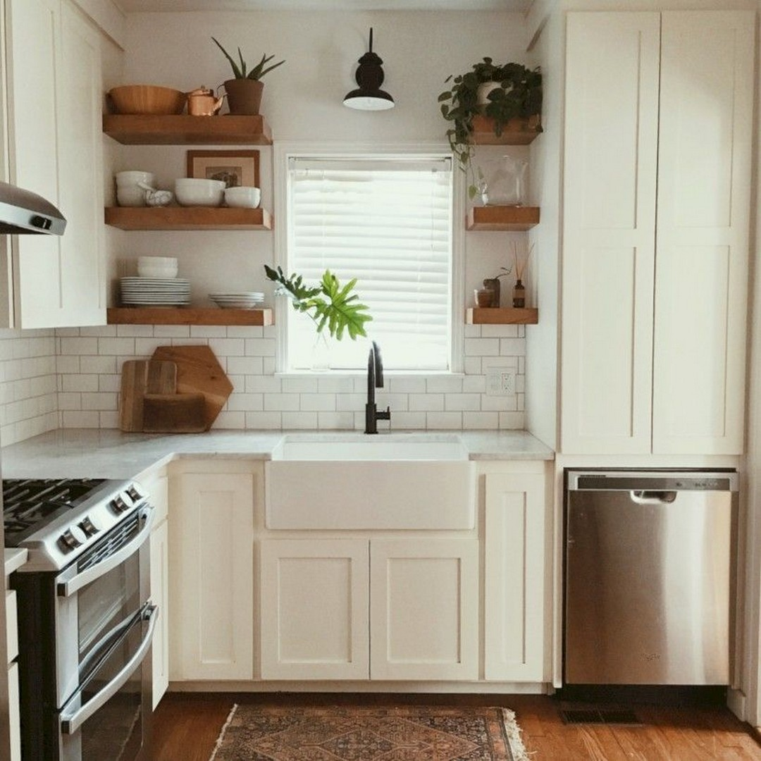 Make A Small Kitchen Look Bigger: 40+ SHINING KITCHEN REMODEL IDEAS TO MAKE A SMALL KITCHEN