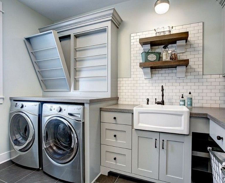 38 Inspiring Remarkable Laundry Room Layout Ideas For The Perfect Home Drop Zones